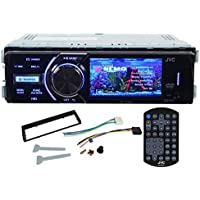 JVC KD-AV300 In-Dash Single Din Car DVD/CD Receiver With 3 Display, iPhone 2-Way control, USB/AUX, and A Wireless Remote