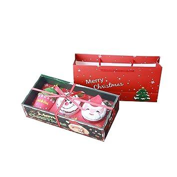 waroomss regalo de Navidad toalla Papá Noel Muñeco de nieve árbol de Navidad toalla para modelar