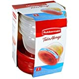 Rubbermaid TakeAlongs Twist and Seal Food Storage Containers, Clear, 2-Cup (4-Pack of 3)