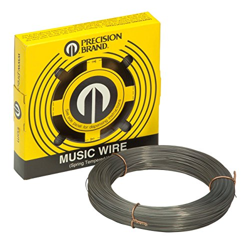 PRECISION BRAND Music Wire, Steel Alloy, 0.031 - Coils Piano Lb 1 Wire