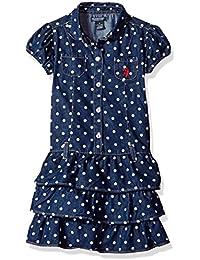 Girls' Casual Dress, OD Green-3272