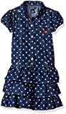 U.S. Polo Assn. Little Girls' Casual Dress, Dark Wash-6915, 6