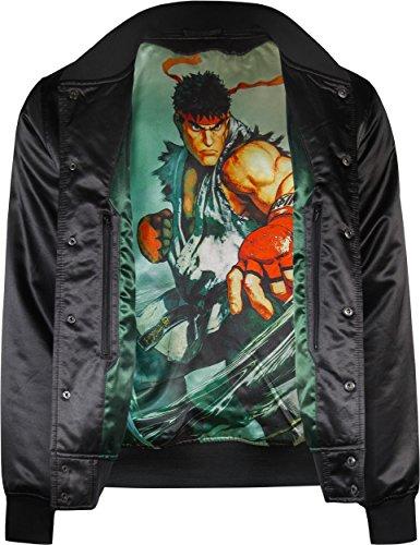 De Ryu Homme Noir Jeu Universitaire Musterbrand Street Fighter Veste Vêtements Vidéo w4WxRPqFUn