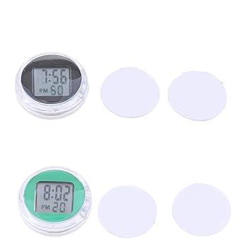 KESOTO Stick-On Reloj de Motocicleta Digital de coche Impermeable Negro Y Verde: Amazon.es: Coche y moto