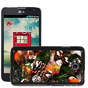Hot Style Cell Phone PC Hard Case Cover // M00113865 Animal Bird Celebration Christmas // LG Optimus L70 MS323