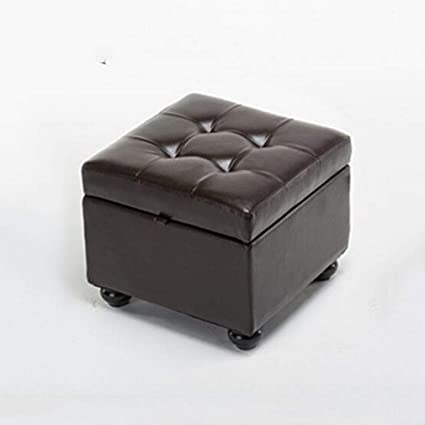 Amazing Amazon Com Ycsd Faux Leather Button Tufted Square Storage Pabps2019 Chair Design Images Pabps2019Com