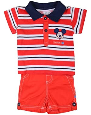 Disney Mickey Mouse 2 Piece Shorts Set for Baby Boy 3-6 Months