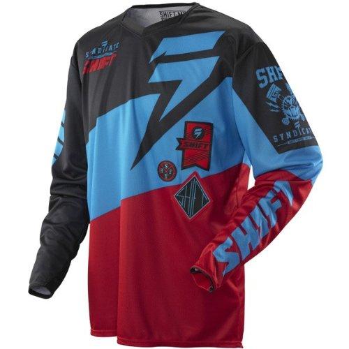 (Shift Faction Slate Mens MX Jersey Red/Black/Blue XL )