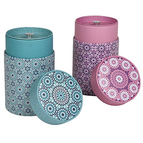 Eigenart Case Andalusia 150g Precioso te latas de cafe latas Tarro Juego de 2