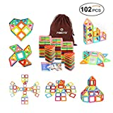 Magnetic Blocks 102 PCS Magnetic Building Blocks Toys for Girls Boys, Magnetic Tiles Set for Toddler Kids By Mibote
