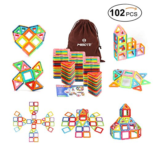 Mibote 102 PCS Magnetic Building Blocks
