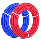 Popsport PEX Tubing 1/2 Inch PEX Potable Water Pipe 2 Rolls 100FT Non-Barrier Pex Tubing for Residential and Light Commercial Hot and Cold Water Plumbing Applications (2X100FT)