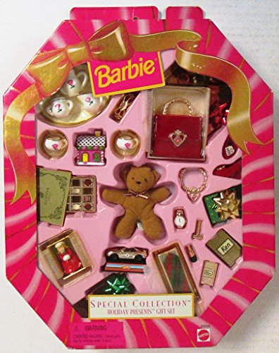 Barbie Holiday Presents Gift Set Special Collection (1998) (Pink Box Barbie)