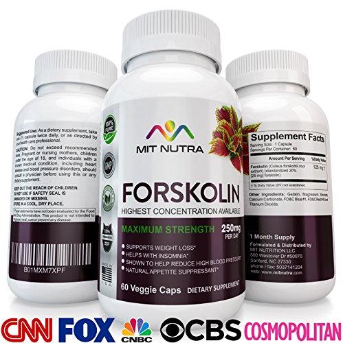 La forskoline (Coleus Forskohlii) - Meilleurs Vente de Pilules de Perte de Poids de la Marque, Brûleur de Graisse Supplément en 2017/18, Suppresseur de l'Appétit et de l'Énergie Pilule de Régime alimentaire. Top Produits de Perte de Poids pour les Hommes