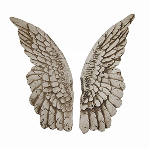 (Zeckos Wings of Protection Pair of Aged Finish Hanging Angel Wings )