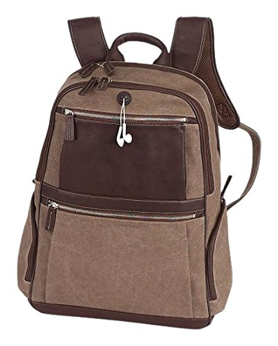 BELLINO Autumn Computer Backpack Scan Express, Brown (Bellino Leather Backpack)
