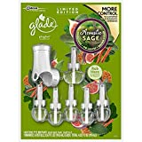 Glade Plugins Acoustic Sage 1 Scented Oil Warmer & 6 Scented Oil Fragrance Refills