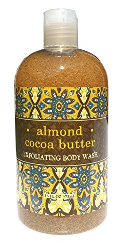 Greenwich Bay ALMOND COCOA BUTTER Exfoliating Body Wash for Men and Women-Gentle Body Scrub Parabens Free -Sulphates Free-Blended with Loofah, Apricot Seed-Moisturizing Shea Butter -16 ()