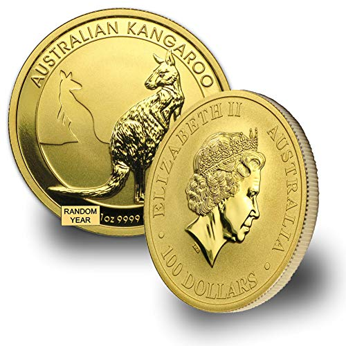 - 1987 - Present Australia Gold Kangaroo/Nugget (Random Year) 1oz .9999 Brilliant Uncirculated