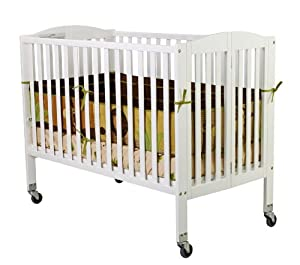 dream on me folding full size convenience crib white