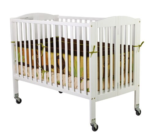 Dream On Me Folding Crib (Dream On Me Folding Full Size Convenience Crib, White)
