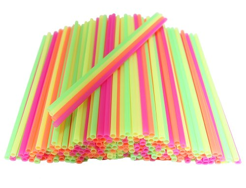 Plastic Disposable Cocktail Stirrers Colored