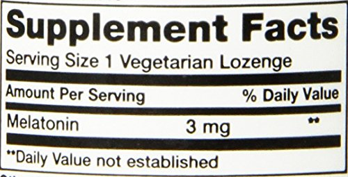Melatonin 3 mg 60 Lozenges (Pack of 2) by Life Extension (Image #3)