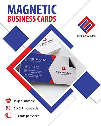 Printable Business Card Magnetic Sheets. Pre-Cut Business Cards Stock. (10)