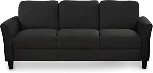 3-Seat Sofa Living Room Linen Fabric Sofa 3-Seat Sofa