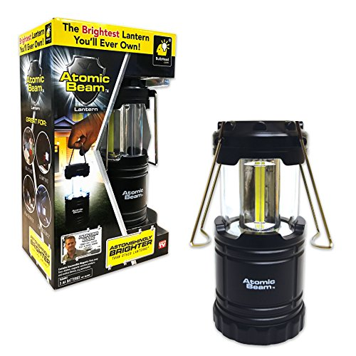 Atomic Beam Tactical Lantern by BulbHead, Bright 360-Degree LED Panels, 3 Hanging Methods … (1 Pack)