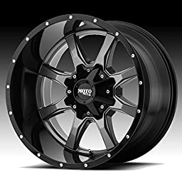 Moto Metal MO970 20x10 Gray Black Wheel / Rim 6x135 & 6x5.5 with a -24mm Offset and a 106.25 Hub Bore. Partnumber MO97021067424N