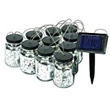 Malibu 2X10 Solar Mason Jar String Lights