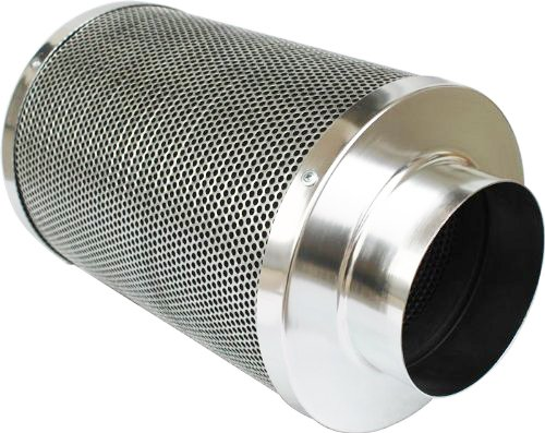 51Fe70d2bjL iPower GLFILT4M Air Carbon Filter and Odor Control with 1050+ IAV Australia Virgin Charcoal for Inline Fan, Reversible Flange 4-Inch, Pre-filter Included