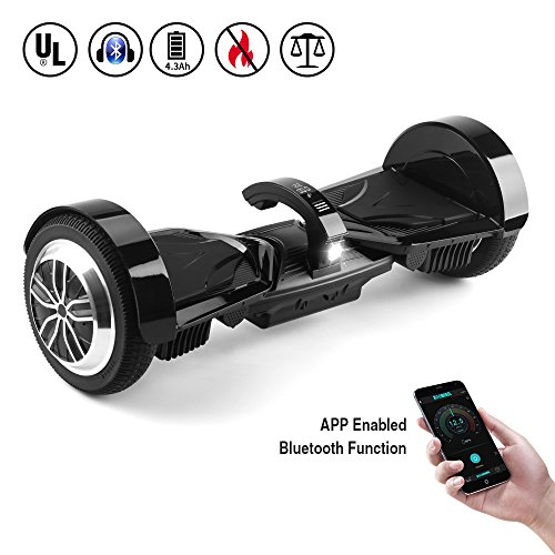 Koowheel App-Enabled K5 Entry Level Hoverboard w/Dual Bluetooth Speaker and LCD Screen, 7.5″ Alloy Two-wheel Self-balancing Scooter Hover Board UL2272 Certificated(12Km/h Max 220lbs Max)
