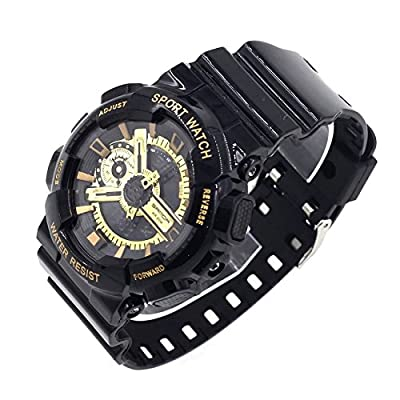 S SPORT wrist watches for both men and women, as well as water - GA110GB-1A (Black / Gold).