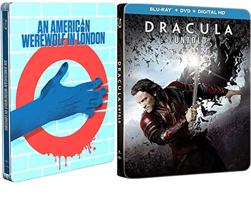 The Modern Monsters Blu-ray Steelbook Collection - American Werewolf in London (Limited Edition Steelbook) & Dracula Untold (Exclusive Limited Edition Steelbook 2 Movie Blu-ray Double Feature Bundle