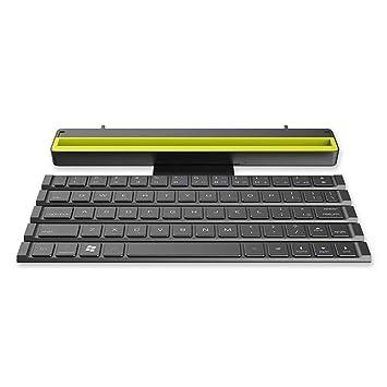 TEEPAO Teclado Bluetooth Plegable, Teclado Inalámbrico Ultra Delgado con Soporte y Bolsa Portátil para iPad, iPhone, Tabletas, PC, Android, iOS, Windows, ...