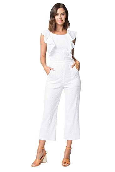 89ae365d324 Amazon.com  Sugar Lips Ryan Ruffle Detail Jumpsuit  Clothing