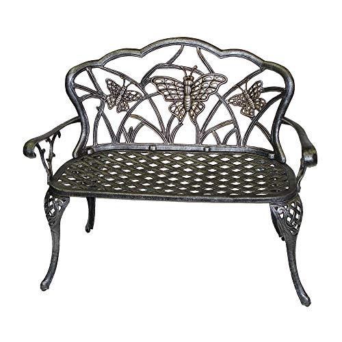 Oakland Living Butterfly Cast Aluminum Loveseat, Antique Bronze