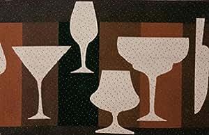 TAPPETO X CUCINE GLASSES CM. 50X290 MARRONE