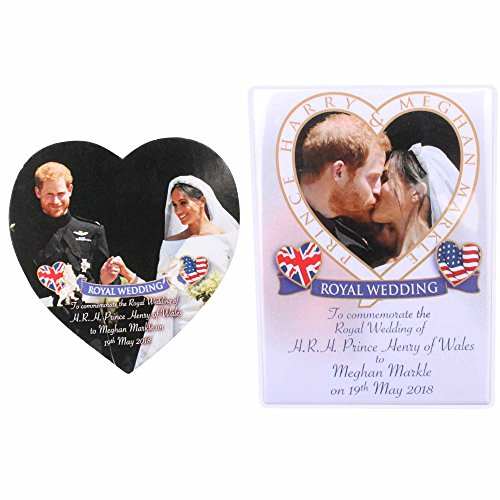 Pair of Prince Harry & Meghan Royal Wedding Fridge Magnets ()