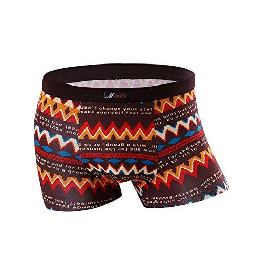Dou7ble Li Men's Geometric Print Briefs Underwear Fashion Thongs Panties (Geometric Thong)