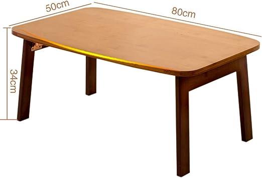XIA Mesa de Madera Plegable de bambú para TV con Acabado en Madera de Pino - Ideal para cenas con TV. (Tamaño : 80 * 50 * 34cm): Amazon.es: Hogar
