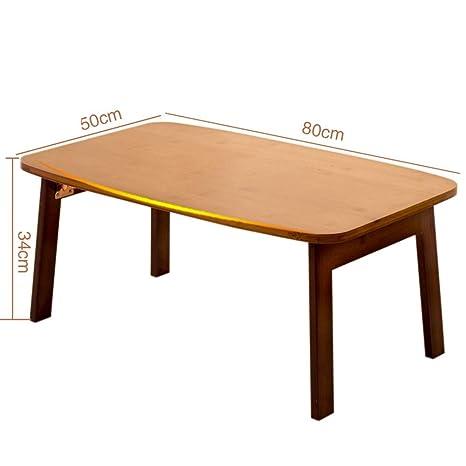 Amazon.com: Mesa plegable de madera de bambú con acabado de ...