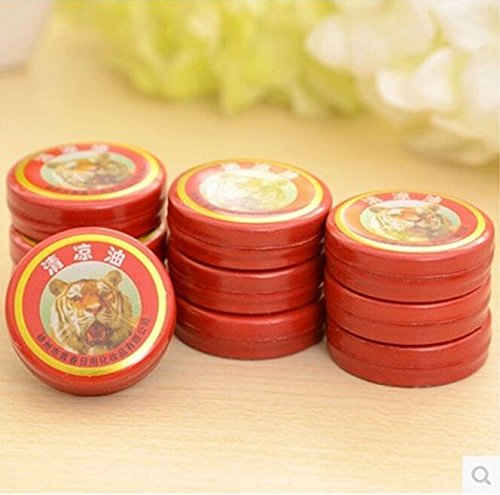 Tiger Balm Tiger Balm Ultra Strength - Gold Tower Tiger Balm Ointment for Headache Stomachache Cold Dizziness Insect Stings Heat Stroke Essential Balm -Tiger Balm ()
