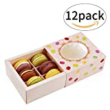 Macaron Box Chocolate Container Cookie Holder with Window Hold 6 Macarons Boxes