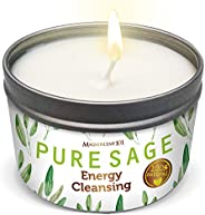 MAGNIFICENT101 Pure White Sage Smudge Candle for House Energy Cleansing, Banishes Negative Energy I Purificati