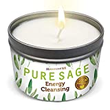 MAGNIFICENT101 Pure White Sage Smudge Candle for House Energy Cleansing