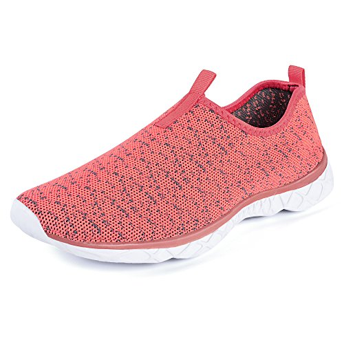 Feetmat Frauen Wasser Schuhe Mesh schnell trocknende Strandschuhe Pinke Rose