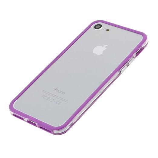 fb6aced96d Amazon | SZMM ?iPhone7電話エッジプロテクター カバー 耐衝撃 PCゴムカバー ケース フレーム バンパー 紫 | ケース・カバー  通販